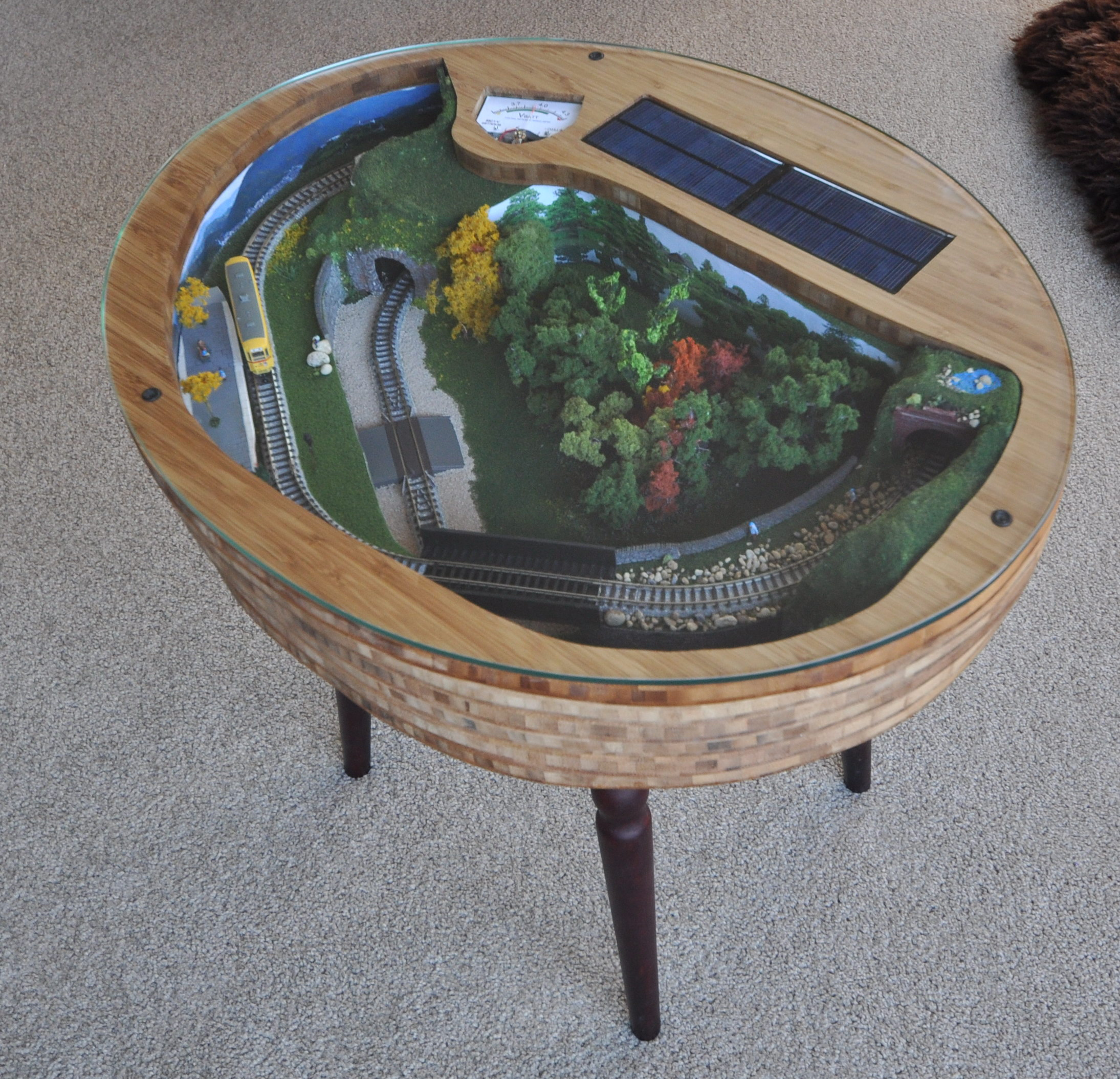 Japanese Tram Coffee Table Layout